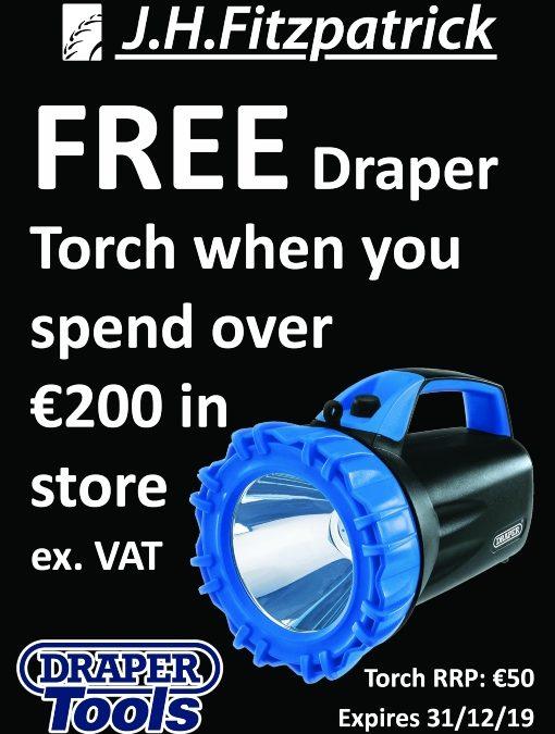 Free Draper Torch Giveaway