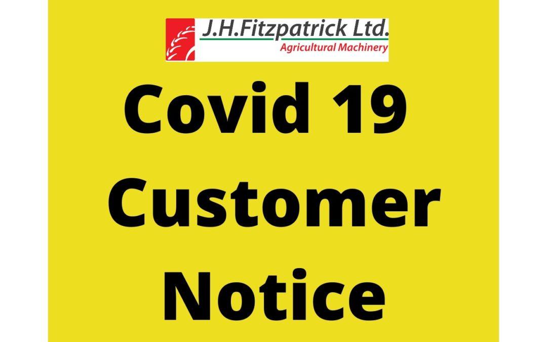 Covid 19 Customer Notice